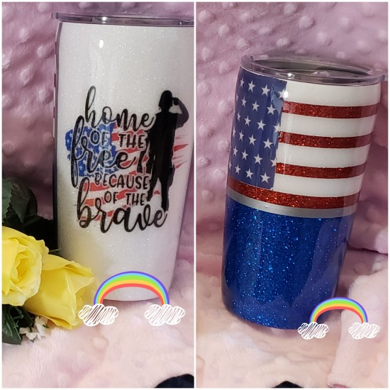 Because of the Brave - 20 oz tumblers
