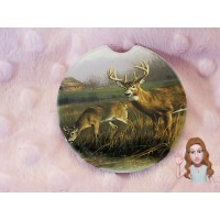 3 Deer Hunting Car Coaster