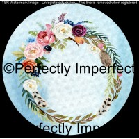 4 Floral wreath car coaster