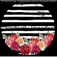 25 black striped floral car coaster