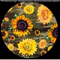 28 camo sunflower car coaster