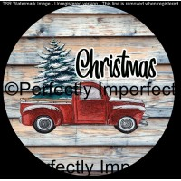 33 christmas red truck wooden car coaster