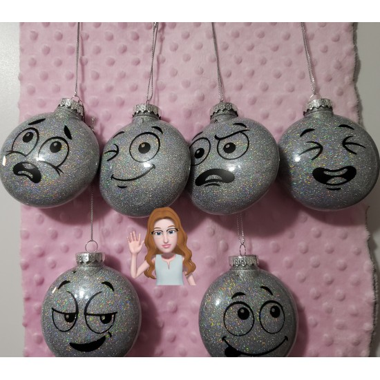 Faces - Christmas Ornaments